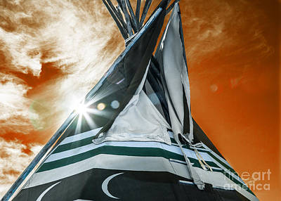 Shamans Tipi Poster by Roselynne Broussard
