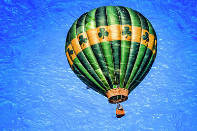 Shamrock Balloon Poster by Geraldine Scull