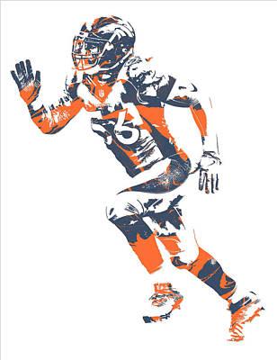 Shane Ray Denver Broncos Pixel Art 1 Poster