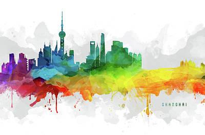 Shanghai Skyline Mmr-chsh05 Poster