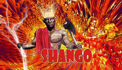 Shango Poster by Edelberto Cabrera
