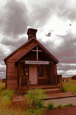 Shaniko Wedding Chapel Poster by Jeff Swan