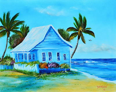 Shanty In Jamaica Poster by Lloyd Dobson