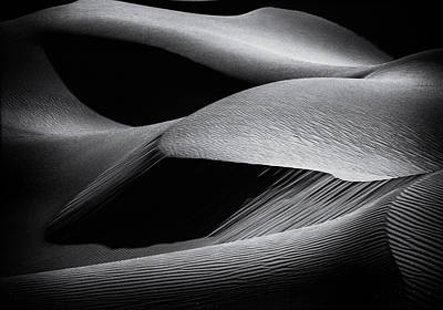 Shapes Of The Dunes Poster by Simon Chenglu
