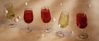 Sharing Wine Poster