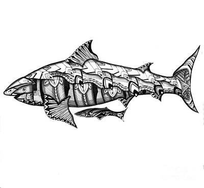 Shark Tank Poster by Michael Miller