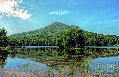 Poster featuring the photograph Sharp Top Mountain At Abbott Lake - Peaks Of Otter by Kerri Farley