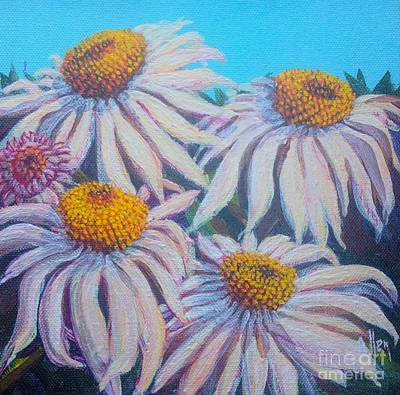 Poster featuring the painting Shasta Daisy#1 by Gail Allen