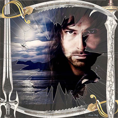 Shattered Kili With Swords Poster by Kathy Kelly
