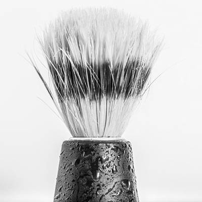 Poster featuring the photograph Shaving Brush by Gary Gillette