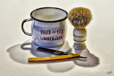 Poster featuring the photograph Shaving Still Life by Walt Foegelle