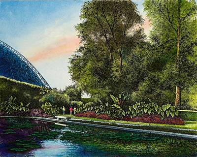Poster featuring the painting Shaw's Gardens Climatron by Michael Frank