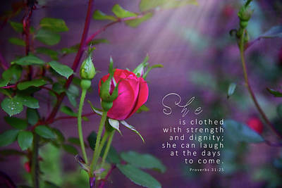 She Is Clothed Poster by Susan Hammons