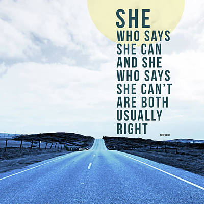 She Who Can- Art By Linda Woods Poster