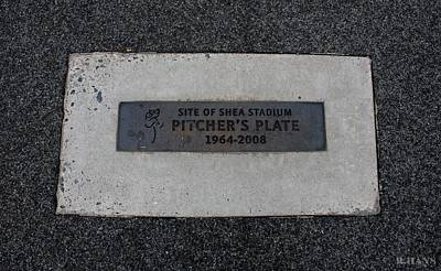 Shea Stadium Pitchers Mound Poster by Rob Hans