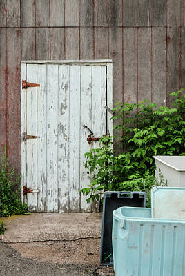 Poster featuring the photograph Shed Door, French River by Rob Huntley
