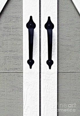 Shed Door Handles Poster by Ethna Gillespie
