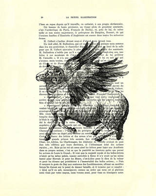 Sheep With Angel Wings Black And White  Poster by Madame Memento