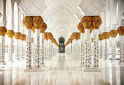 Sheikh Zayed Mosque - Abu Dhabi Poster by Sedef Isik