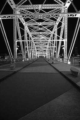 Shelby Bridge Bw Poster by Dylan Punke