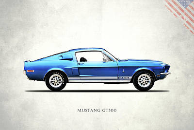 Shelby Mustang Gt500 1968 Poster