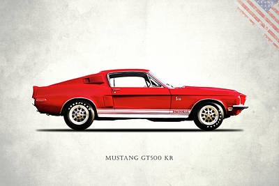 Shelby Mustang Gt500 Kr 1968 Poster