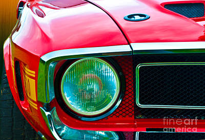 Red Shelby Mustang Poster