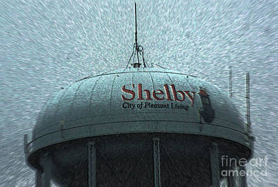 Shelby North Carolina Water Tower Poster by Kim Pate