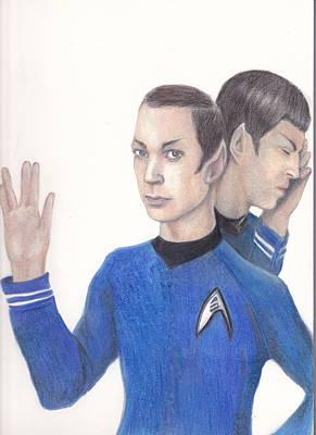 Sheldon Cooper Spock Poster