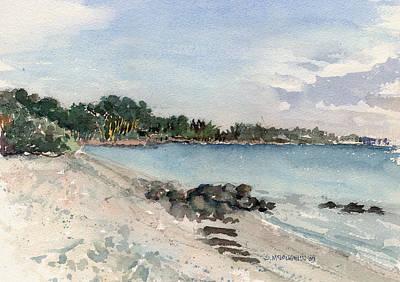 Shell Beach On Siesta Key Poster by Shawn McLoughlin