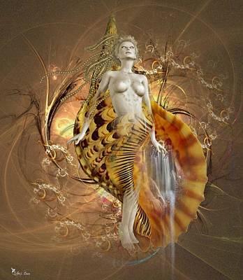 Golden Shell Serpent Poster