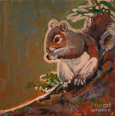 Shelley The Pet Squirrel Poster by Michele Hollister - for Nancy Asbell