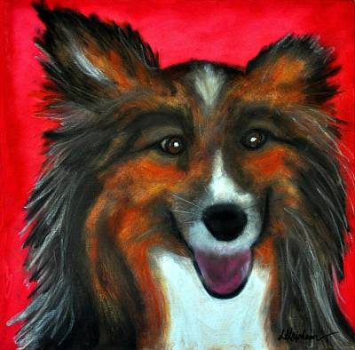 Poster featuring the painting Sheltie- Maggie by Laura  Grisham