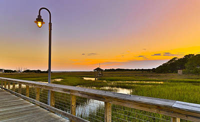 Shem Creek Pier Boardwalk - Mt. Pleasant Sc Poster
