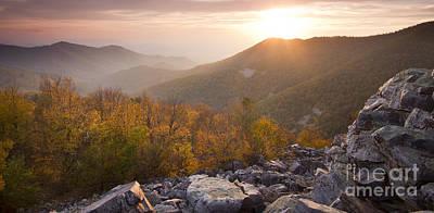 Shenandoah National Park Sunset Black Rock Poster