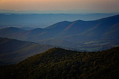 Shenandoah Valley At Sunset Poster