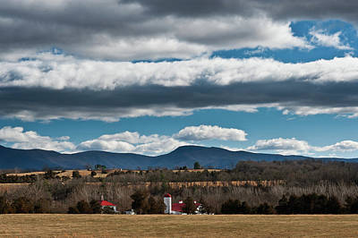 Poster featuring the photograph Shenandoah Valley Farm Winter Skies by Lara Ellis