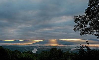 Poster featuring the photograph Shenandoah Valley First Light by Lara Ellis