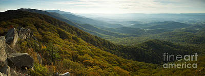 Shenandoah Valley From Marys Rock Poster