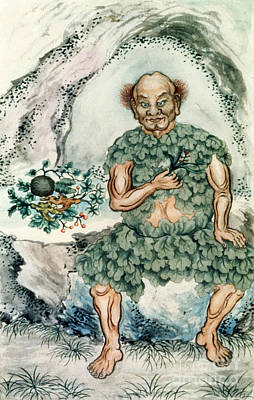 Shennong, Chinese God Of Medicine Poster by Wellcome Images