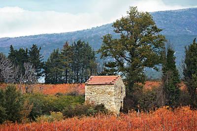 Shepherd's Hut, Provence In Autumn Poster