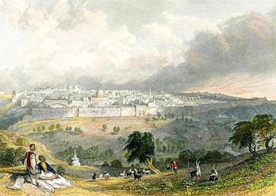 Shepherds Of Jerusalem 1838 Poster by Munir Alawi