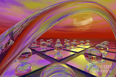 Sherbet And Glass Poster by Sandra Bauser Digital Art
