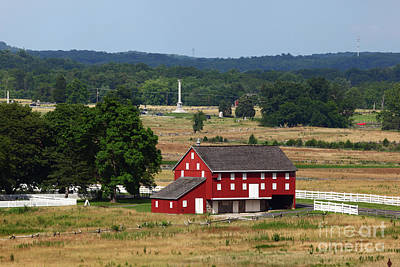 Sherfy Farm Barn Gettysburg Battlefield Poster
