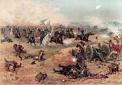 Sheridans Ride, Battle Of Cedar Creek Poster by Science Source