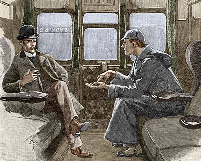 Sherlock Holmes And Dr. Watson Poster by Sheila Terry