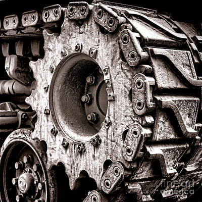 Sherman Tank Drive Sprocket Poster by Olivier Le Queinec