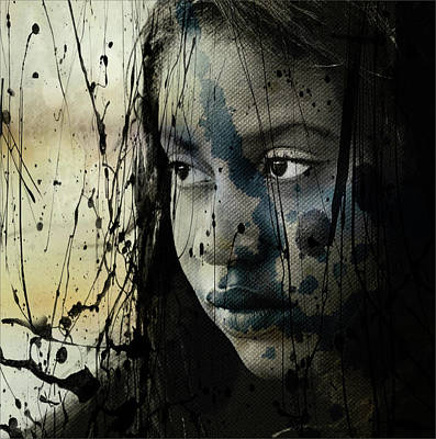 Poster featuring the mixed media She's Out Of My Life  by Paul Lovering