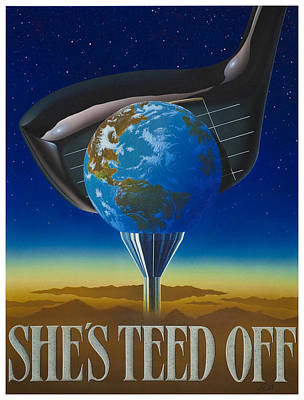 She's Teed Off Poster by Steve Ellis