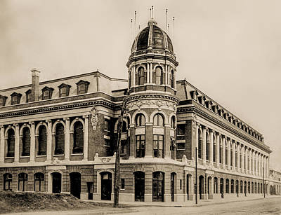Shibe Park 1913 In Sepia Poster by Bill Cannon